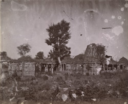 General view of unnamed ruined temples, Chittaurgarh [Chitorgarh]